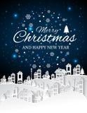 Kerstmis en Nieuwjaren achtergrond met Kerstmis stock illustratie