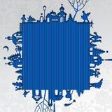 Kerstmis en Nieuwjaren kader Royalty-vrije Stock Afbeelding