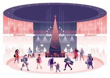 Kerstmis en Oudejaarsavond vector illustratie