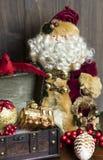 Kerstmis en Santa Decoractions royalty-vrije stock afbeeldingen