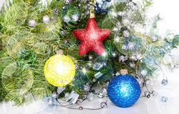 Kerstmis en speelgoed royalty-vrije stock foto's