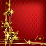 Kerstmis en van de groetnieuwjaren kaart Stock Afbeelding
