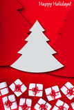 Kerstmis en van de vakantiegroet kaart Stock Fotografie
