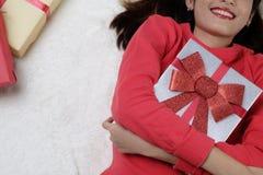 Kerstmis en verjaardagsconcept Stock Foto's