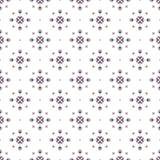 Kerstmis etnisch naadloos patroon met geometrische sneeuwvlokken op witte achtergrond seizoenontwerp voor druk Stock Afbeelding