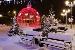 Kerstmis, feestelijke ballon Royalty-vrije Stock Foto's