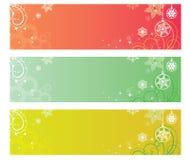 Kerstmis feestelijke van de winterbanners vector als achtergrond Stock Fotografie