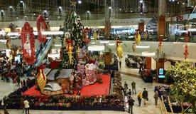 Kerstmis Feestelijke Zaal Stock Foto