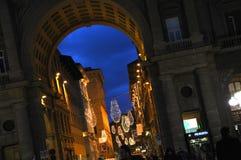 Kerstmis in Florence stock foto