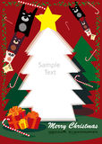 Kerstmis frame Stock Fotografie