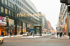 Kerstmis in Friedrichstrasse Berlijn, Duitsland Royalty-vrije Stock Afbeelding