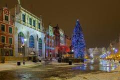 Kerstmis in Gdansk Stock Afbeeldingen