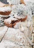 Kerstmis gebakken muffins Stock Fotografie