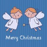 Kerstmis gebreid patroon Stock Afbeelding