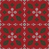 Kerstmis gebreid patroon De winter geometrisch naadloos patroon DE stock illustratie