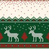 Kerstmis gebreid patroon De winter geometrisch naadloos patroon DE vector illustratie