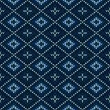 Kerstmis gebreid patroon De winter geometrisch naadloos patroon DE royalty-vrije illustratie