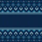 Kerstmis gebreid patroon Geometrisch abstract naadloos patroon stock illustratie