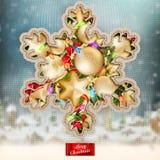 Kerstmis gebreide vakantieachtergrond Eps 10 Stock Afbeeldingen