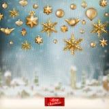 Kerstmis gebreide vakantieachtergrond Eps 10 Stock Afbeelding