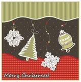 Kerstmis geeting kaart Stock Afbeeldingen