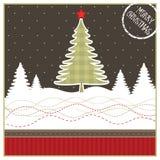 Kerstmis geeting kaart Stock Afbeelding