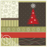 Kerstmis geeting kaart Royalty-vrije Stock Afbeelding