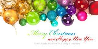 Kerstmis gekleurde ballen Royalty-vrije Stock Fotografie