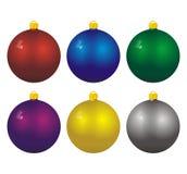 Kerstmis gekleurde ballen Royalty-vrije Stock Afbeeldingen