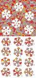 Kerstmis: Gelijkestukken, visueel spel Oplossing in verborgen laag! Stock Foto