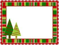 Kerstmis Gestript Frame Stock Afbeeldingen