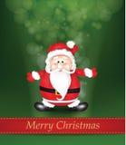 Kerstmis Glanzende Achtergrond met Santa Claus Stock Fotografie
