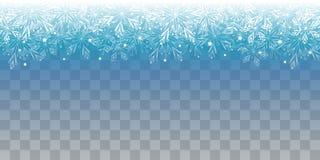 Kerstmis glanzende lichten op transparante achtergrond royalty-vrije illustratie