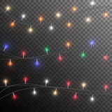 Kerstmis gloeiende slinger vector illustratie