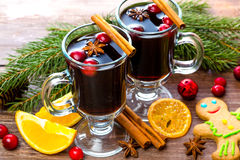 Kerstmis gluhwein Stock Afbeelding