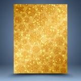 Kerstmis gouden abstracte achtergrond Stock Fotografie
