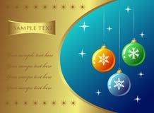 Kerstmis Gouden Backround Stock Afbeeldingen