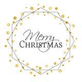 Kerstmis gouden sterren royalty-vrije illustratie