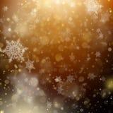 Kerstmis gouden vakantie het gloeien achtergrond EPS 10 vector Stock Afbeelding