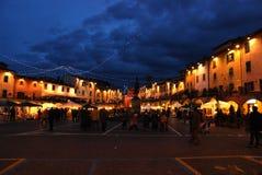 Kerstmis in Greve in Chianti dichtbij Florence royalty-vrije stock foto's