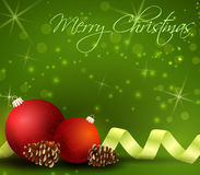 Kerstmis groene achtergrond stock illustratie