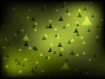 Kerstmis groene achtergrond met pijnbomen Royalty-vrije Stock Foto's