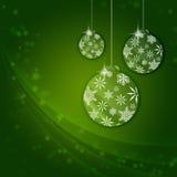 Kerstmis groene ballen Stock Foto