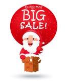Kerstmis grote verkoop met de Kerstman Stock Foto's
