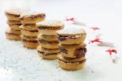 Kerstmis hakt Pastei fijn Stock Foto's