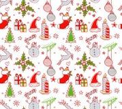 Kerstmis heeft naadloos patroon bezwaar Royalty-vrije Stock Afbeelding