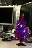 Kerstmis in het bureau Royalty-vrije Stock Afbeeldingen