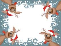 Kerstmis, het frame van het Nieuwjaar. Stock Fotografie