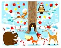 Kerstmis in het hout. Royalty-vrije Stock Foto's