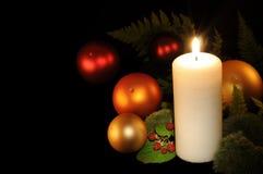 Kerstmis in het hout Royalty-vrije Stock Afbeeldingen